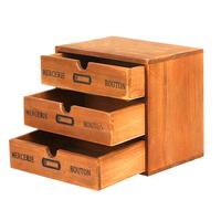Multilayer Cosmetics Storage Case Wood Mini filing cabinet