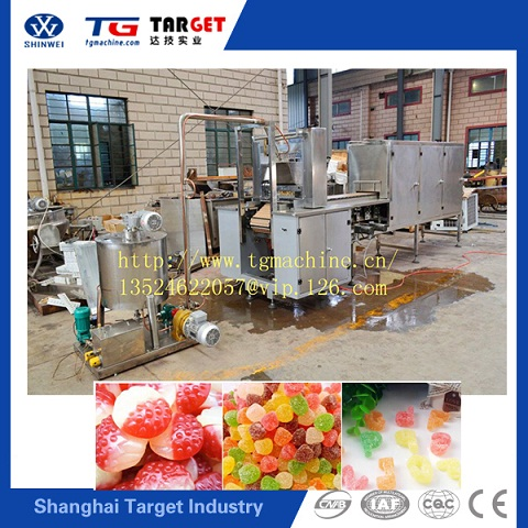popular two colour gummy worm depositing Machine / soft candy forming machine/jelly candy making machine