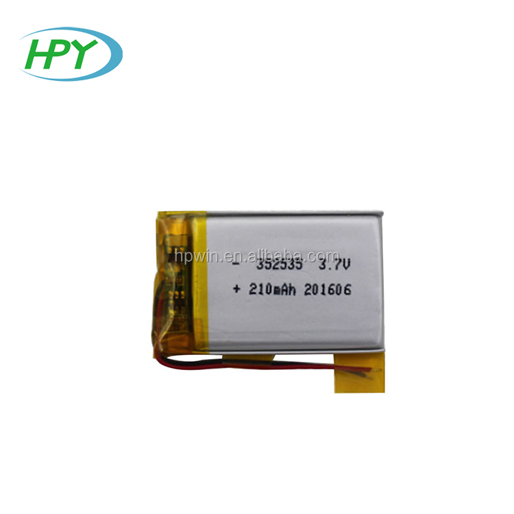 rechargeable li-po battery 352535 3.7v 250mah lithium polymer battery for bluetooth products