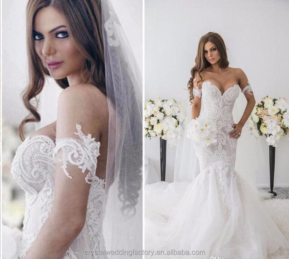 Venta al por mayor vestidos cola de sirena para boda-Compre online ...