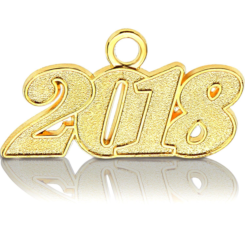 Frienda 2018 Year Signet Gold Color Charm for Graduation Tassel Grad Days