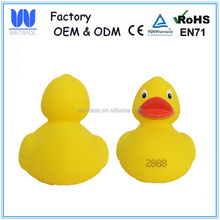 Popular plastic race duck promotional floating rubber ducks wholesale/color rubber duck kid toys