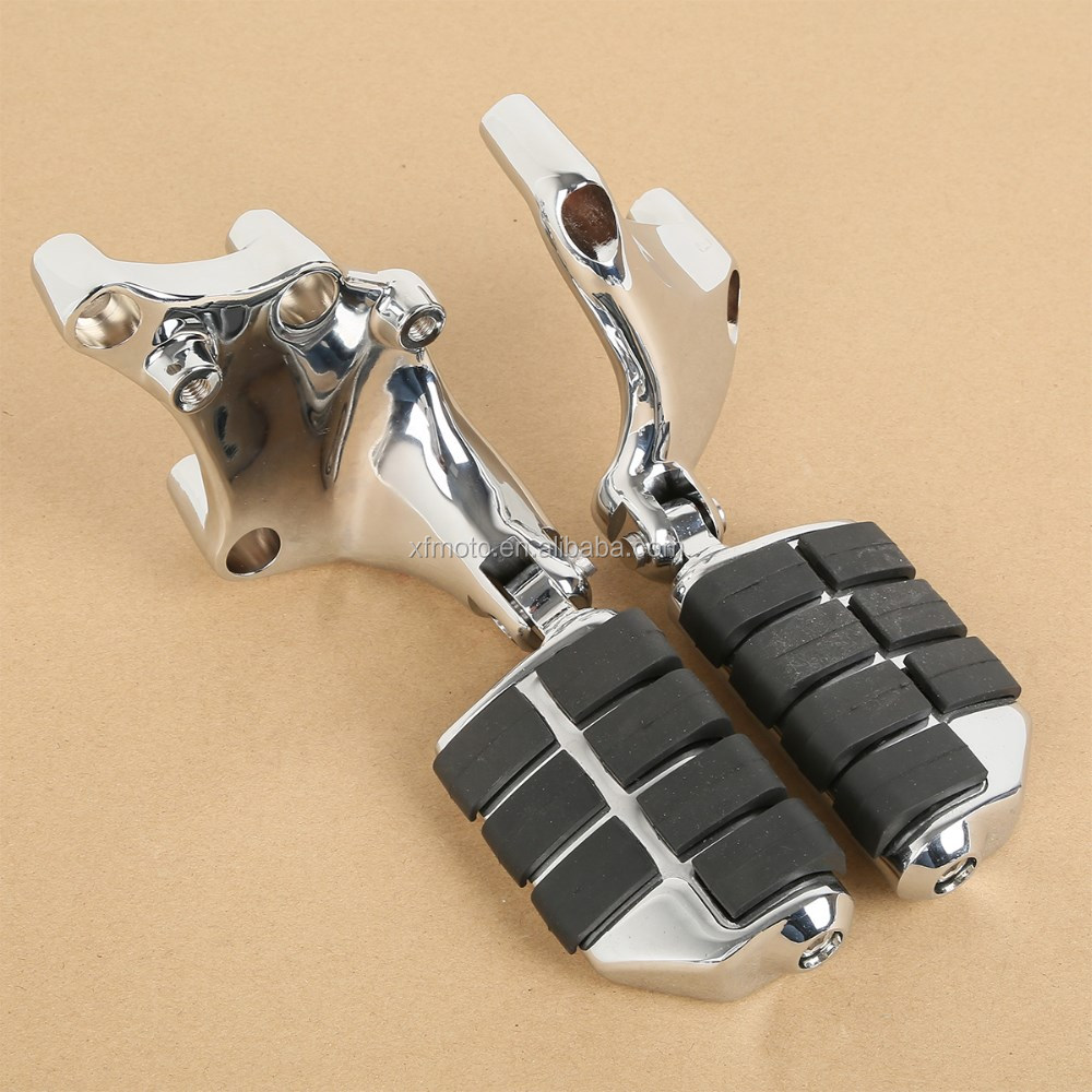 Chrome Lion Paw Foot Pegs & Mount Brackets For 883 1200 XL Sportster