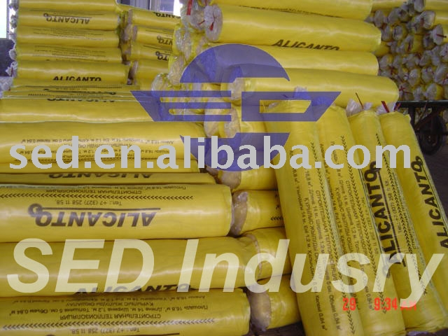 fiberglass roll glass wool with CE lana de vidrio