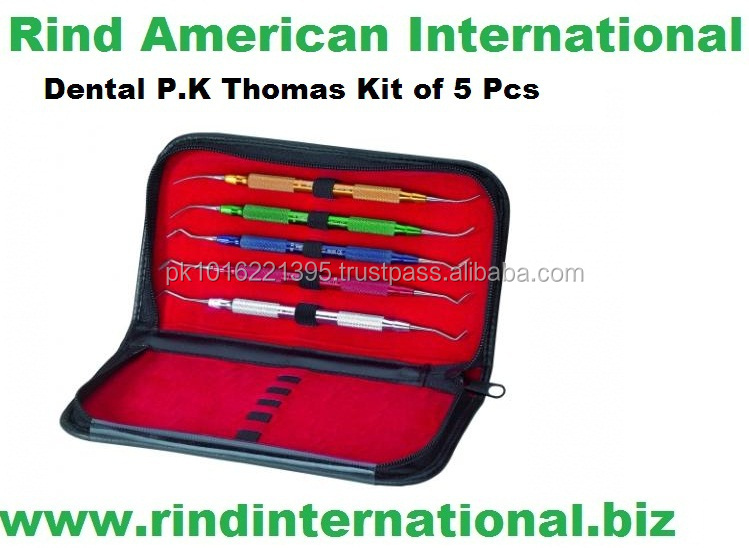 Conjunto Cera carver PK PK Thomas Thomas Set de 5 3pcsset DE 5 COLOR-CODED ALUMINIO P. K. THOMAS ESPÁTULAS