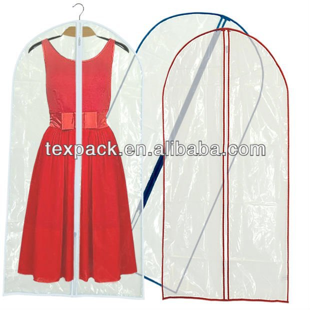 High Quality Clear Garment Bags With Pockets Wedding Dress Bag Whole Suit