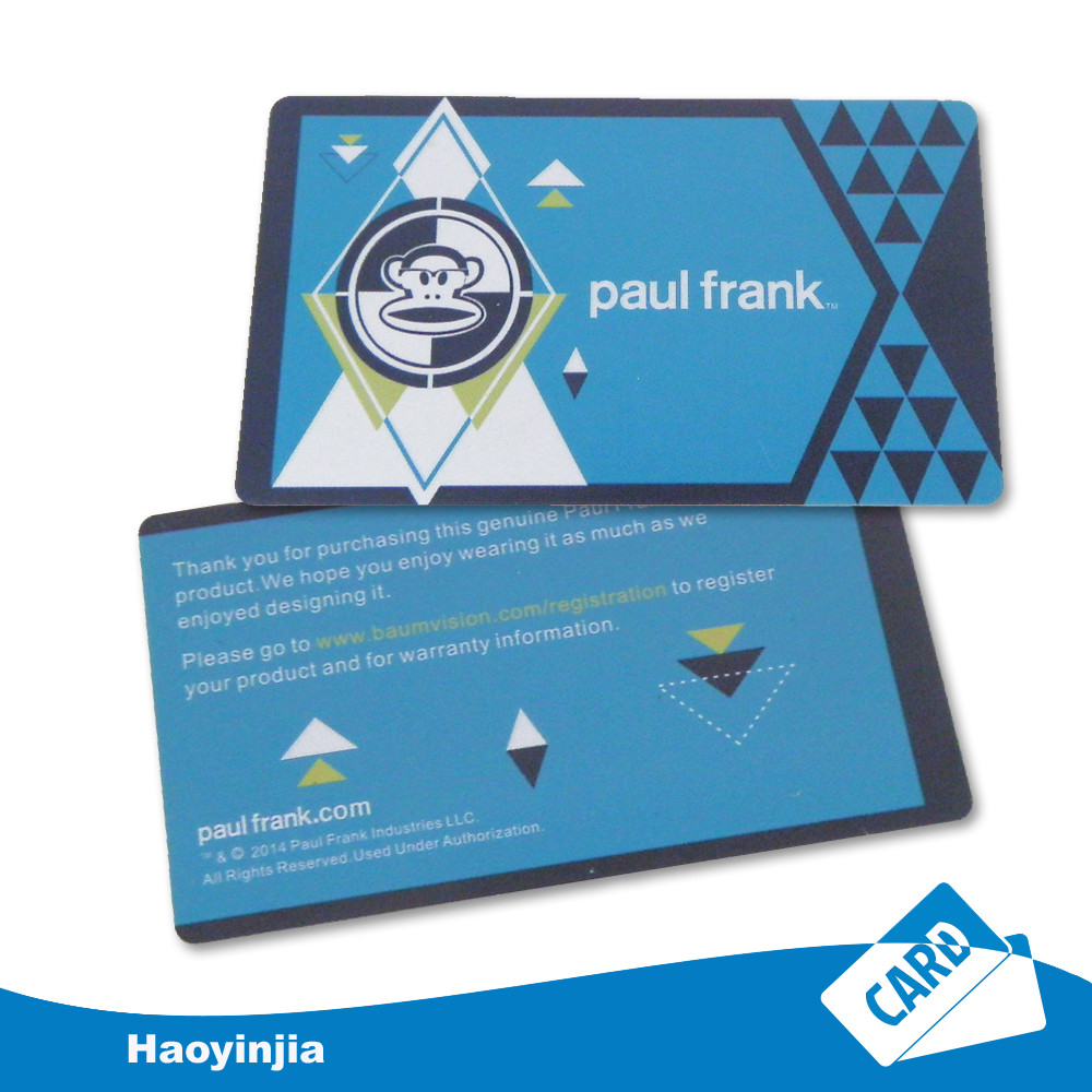 Business Cards Frank High Frequency 13.56mhz Both Side Printing Qrcode Rfid Card With Ultralight Chip