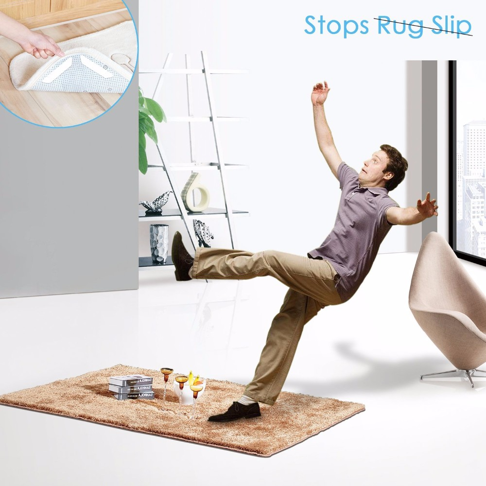 Anti Curling Sliding Carpet Mat Rug Gripper Holder For