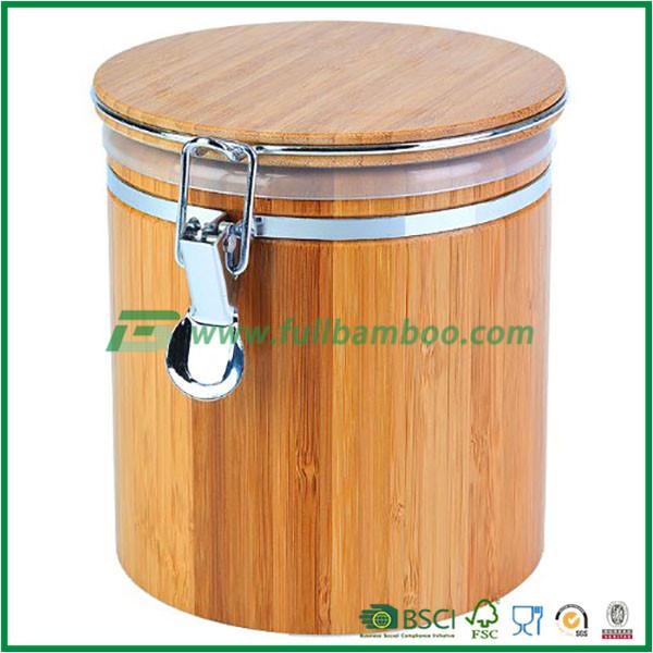 Ermetico di stoccaggio di bamb vaso con coperchio for Bambu in vaso prezzo