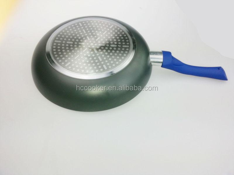 New Design Blue Non Stick Marble Coating 5 Pcs Fry Pan Set