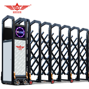 automatic electric factory main gate designs with folding sliding features-L1742