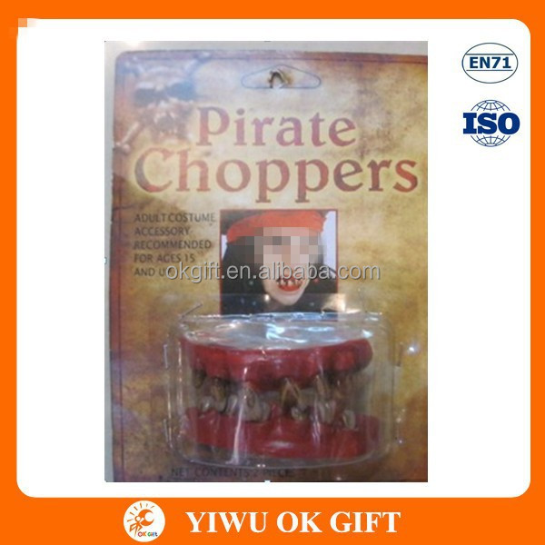 Funny Pirate Choppers teeth, Party Supply