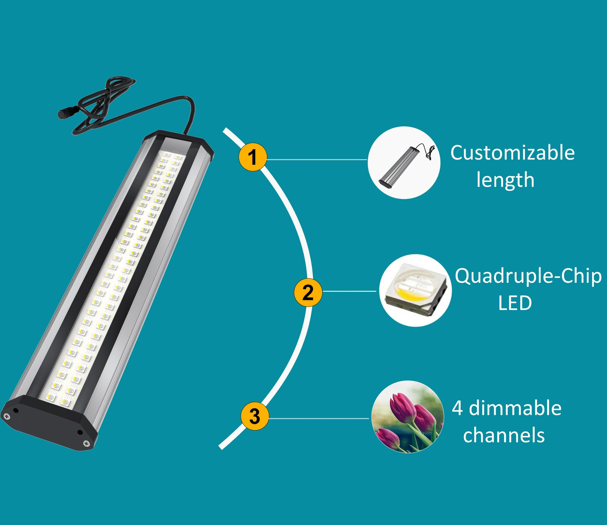 Lumini Best Selling Products Waterproof Hydroponic System Strip Led Grow Light Plant Grow Light