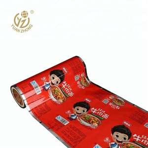 printing bags film roll food packaging for Instant noodles