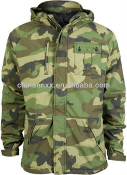 8ac19112ec66e army woodland camouflage military style M65 field hooded jackets men with  liner parka