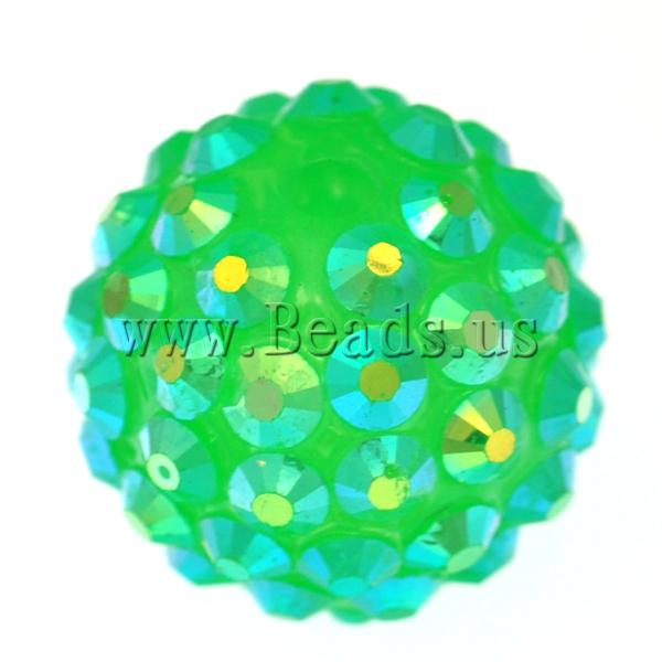 Free shipping!!!Resin Rhinestone Beads,New, Drum, green, 14x16mm, Hole:Approx 2.5mm, 100PCs/Bag, Sold By Bag