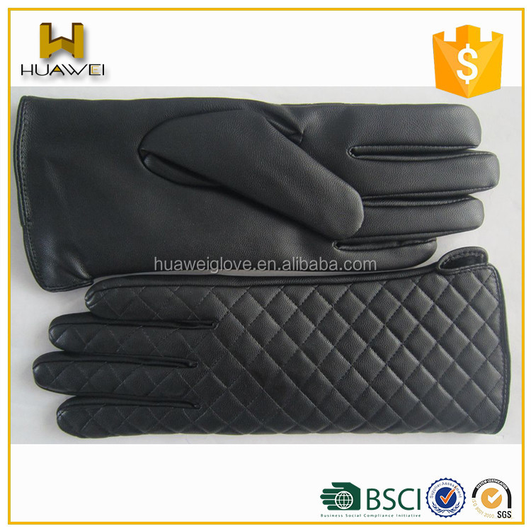 Silk Lining Thin Winter 100% Real Leather Female Sheepskin Gloves