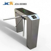 Semi automatic Access Control 304 Stainless Steel RFID Card Reader or Fingerprint Tripod Turnstile For Gym