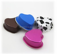 Heart Shape Aluminum Foil Container/Box/Baking Cup with Lid