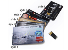 Bulk 2GB/4GB/8GB Credit Card USB 2.0 Flash Drive Accept Paypal
