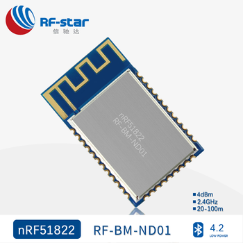 Nordic Nrf51822 Rf-bm-nd01 Fcc Ce Rogh Ic Approved Bluetooth 4 2 Bt5  Bluetooth Module From Rf-star - Buy Nordic Nrf51822,Bluetooth 4 2  Module,Ble