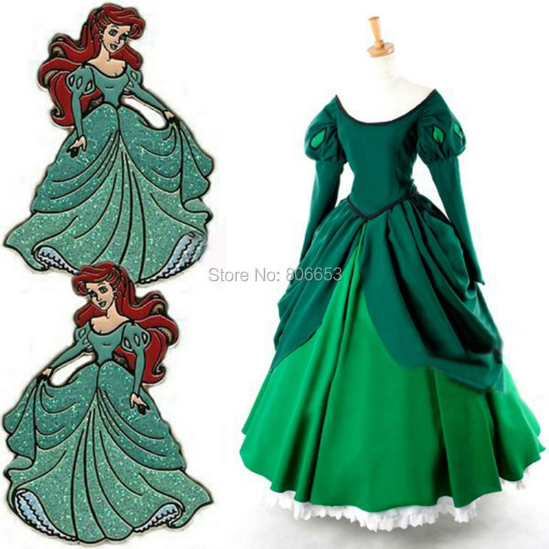 Get Quotations · 2015 Custom-made Movie Cosplay Costume Green Bell Princess Ariel Dress Princess Ariel Party Costume  sc 1 st  Alibaba & Cheap Princess Ariel Costume Adult find Princess Ariel Costume ...