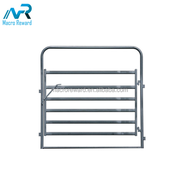 AS/NZS cattle steel oval rail gate frame fence panel for livestock