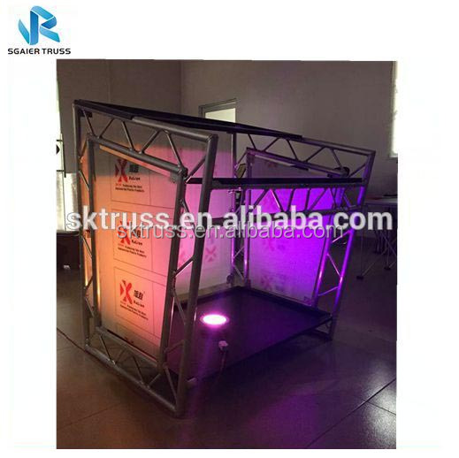 Folding aluminium truss dj booth stehtisch für bar pub