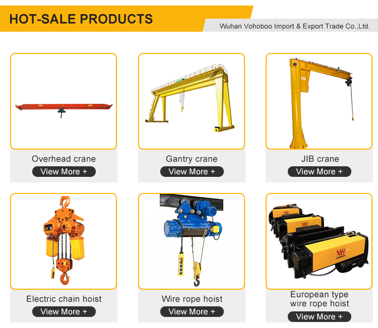 Hot Sales Hook type Trolley Type Remote Control Electric Chain Hoist