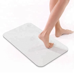 strong water absorption Non slip Diatomite bath mat no suction cup bath mat