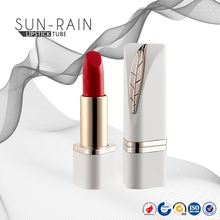 Wholesale empty cosmetic leaves technology new design triangle gold lipstick tube
