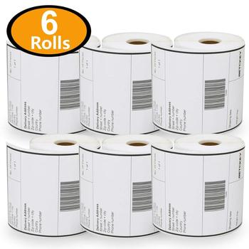 "6 Rolls, 250/Roll 4"" x 6"" Eltron Zebra Labels direct thermal shipping label"