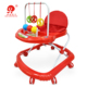 Cheap outdoor activity simple musical 8 rolling wheels round plastic baby walker