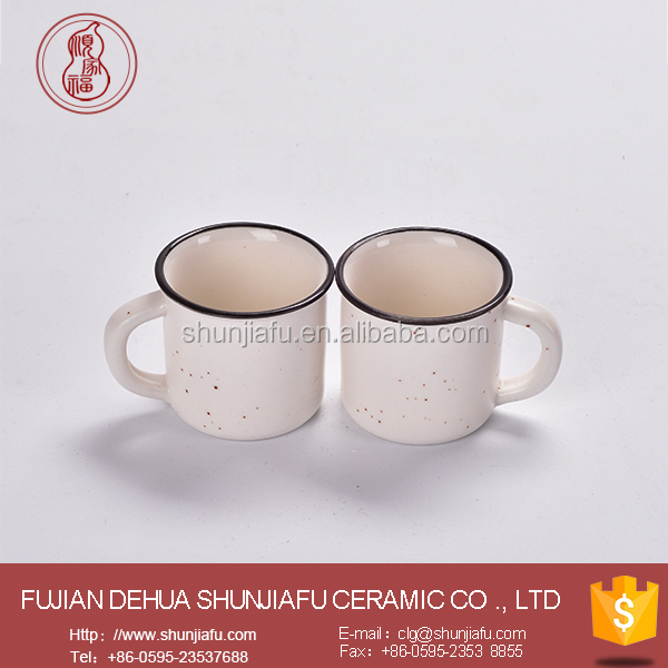 Custom Ceramic Mini Enamel Mugs 90ml