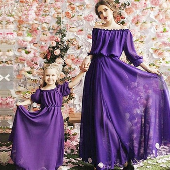 1b8097faaf mother daughter dresses mommy and me family matching clothes look mom mum  dress outfits clothing sister