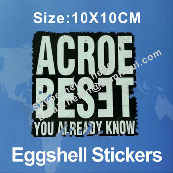 Super quality sun proof outdoor use vinyl eggshell stickers