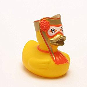 Rubber Duck Venetian Carnival Man in gold | Bath Duck | L: 8 cm