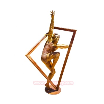 Metal Crafts Garden Ornaments Brass Bronze Man figure Statue