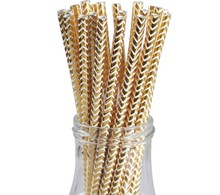 Gold paper straws long drinking straws diameter 8mm 10mm milkshake straws