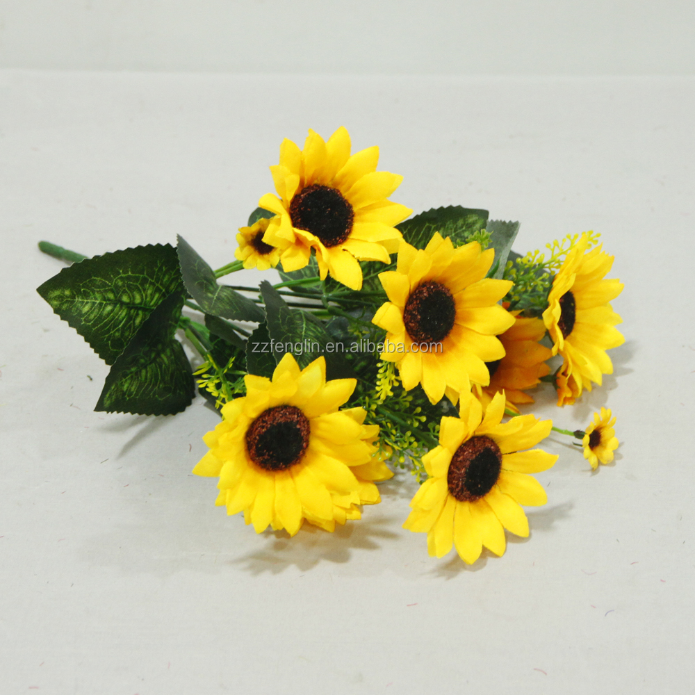 Cheap wholesale artificial flower sunflower marking for home cheap wholesale artificial flower sunflower marking for home decoration izmirmasajfo Choice Image