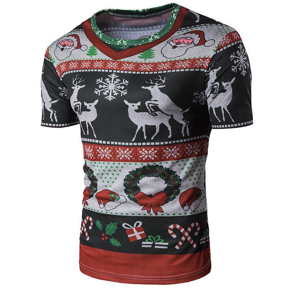 a4bb377ff2650d 2018 Merry Bucking Christmas T-Shirt Animal Deer 3d Print t shirt Women Men  Fashion Clothing Tops Outfits Tees Plus Size
