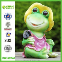New Lovely Frog Girl Home Garden Decoration Statues