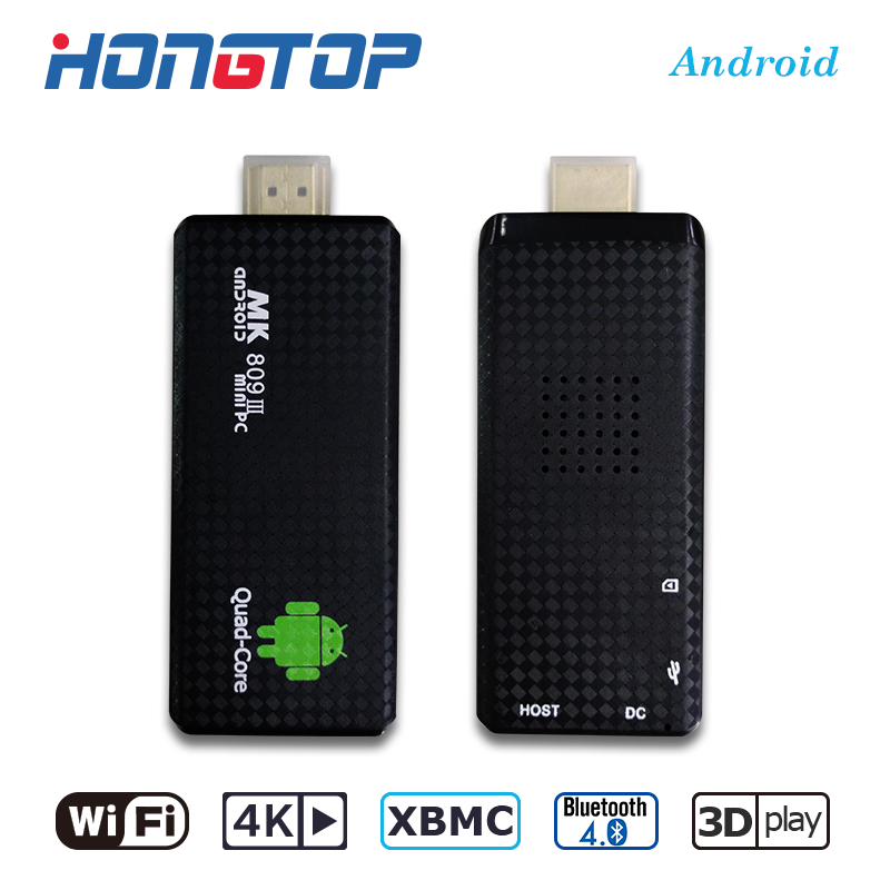 Factory TV Dongle Android Quad Core Android 5.1 BT4.0 4K 2G16G MK809III TV Stick