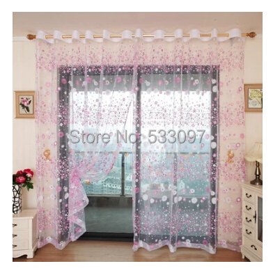 romantic rustic curtain yarn customize finished products balcony 4 colors to choose tulle window. Black Bedroom Furniture Sets. Home Design Ideas