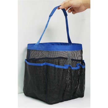 8 Pockets Shower Caddy Mesh Toiletry Bath Tote Hanging Bag Gym Dorm Organizer Product On