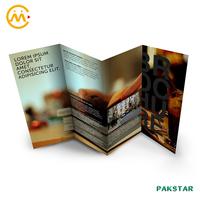 Offset printing customized design matte lamination paper leaflet folded flyer postcard brochure