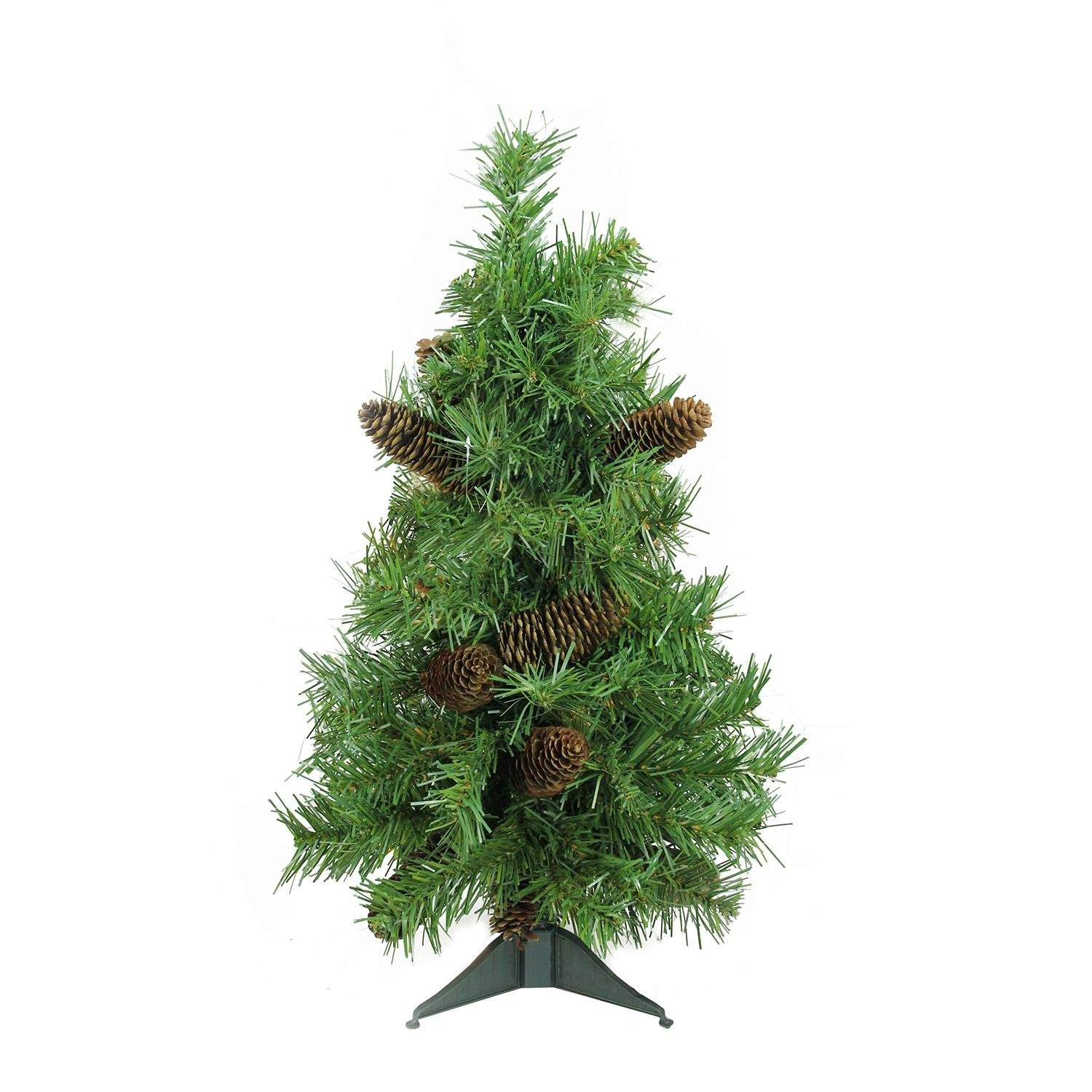 "2' x 17"" Dakota Red Pine Full Artificial Christmas Tree with Pine Cones - Unlit"