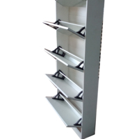 Melamine shoe cabinet,shoe rack,shoe shelf with mirror