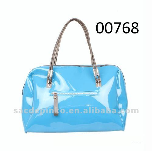 2013 fashion products Shiny blue clear jelly silicone purse handbags women