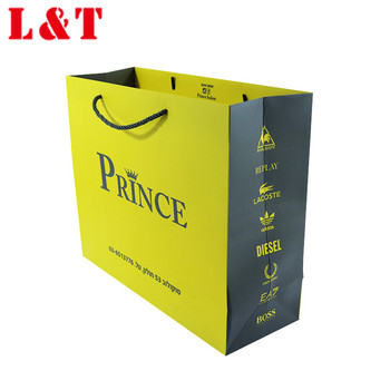 New fancy shopping bag, gift bag, paper bag with handle